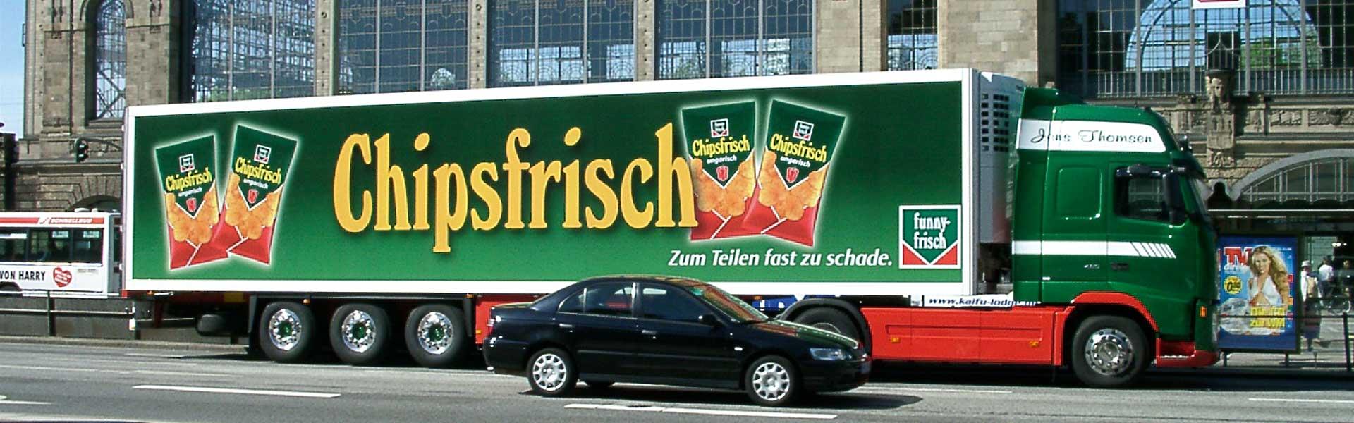 Werbung auf LKW